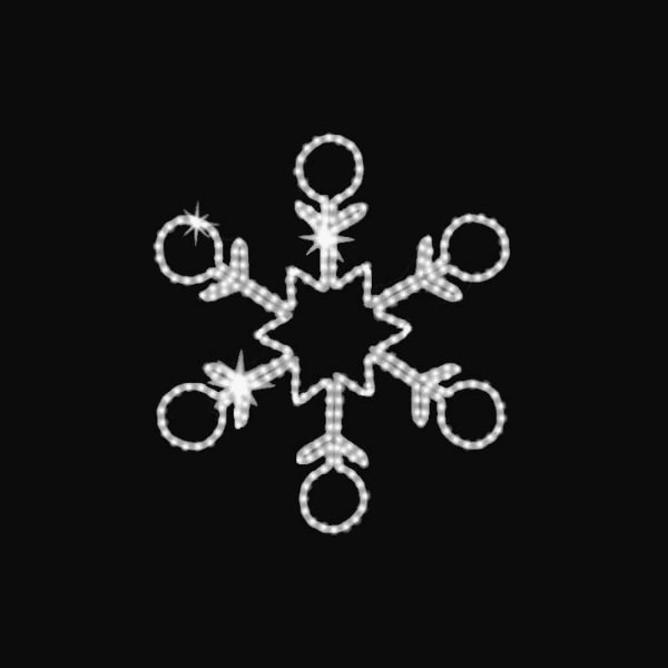 Adventi, karácsonyi fénydekoráció: Világító hópihe motívum, fényelem minden méretben, színben, formában - Glansya